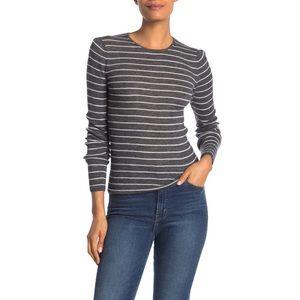 NWT Vince 100% wool stripe rib knit sweater